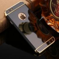 Чехол Matte Mirror case for iPhone 6/6s Black+Gold