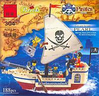Конструктор Brick Enlighten Пиратская серия 304 (Пиратский корабль), фото 1