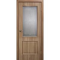 """Дверь межкомнатная """"Версаль ПВХ"""" остекленная, цвет дуб золотой"""