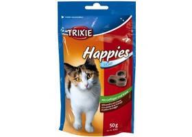 Дропсы для котов TRIXIE - Happies с курицей и сыр, 50гр