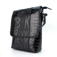 Черная мужская сумка кожаная Bikkembergs