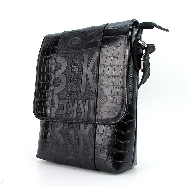 e5902a17e3e5 Черная мужская сумка кожаная Bikkembergs - Интернет магазин сумок SUMKOFF -  женские и мужские сумки,