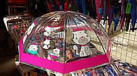 Зонт для девочки прозрачный с котенком