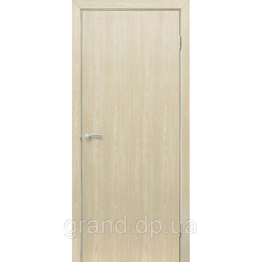 """Дверь межкомнатная """"Гладкая глухая ПВХ"""" цвет дуб меланж"""