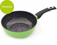 """Сковорода """"Lime"""" 20х7.2см с индукционным дном алюминиевая с керамическим антипригарным покрытием Fissman"""
