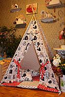 """Детский игровой домик, вигвам, палатка, шатер, шалаш, вігвам, дитячий будинок палатка """"Ленивые котики"""", фото 1"""