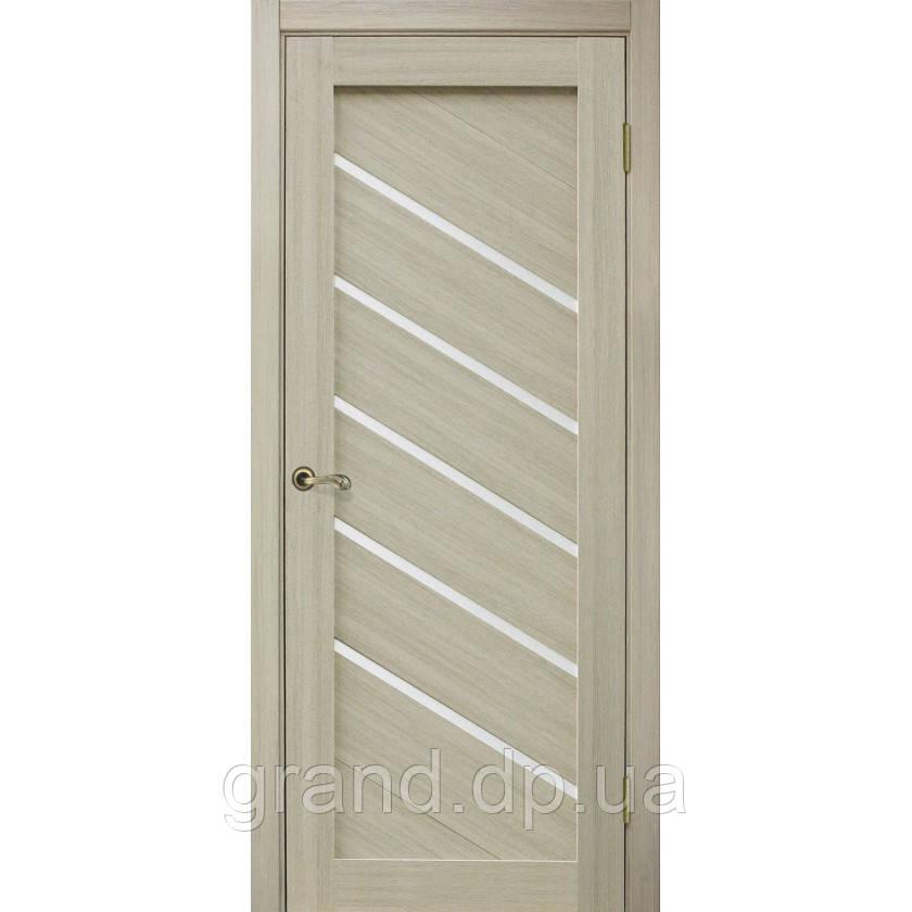 """Дверь межкомнатная """"Диана ПВХ"""" остекленная, цвет дуб беленый"""