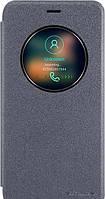 Meizu Pro 6 Чехол-книжка NILLKIN - Spark series (Black) (грязеотталкивающий износостойкий материал; окошечко;