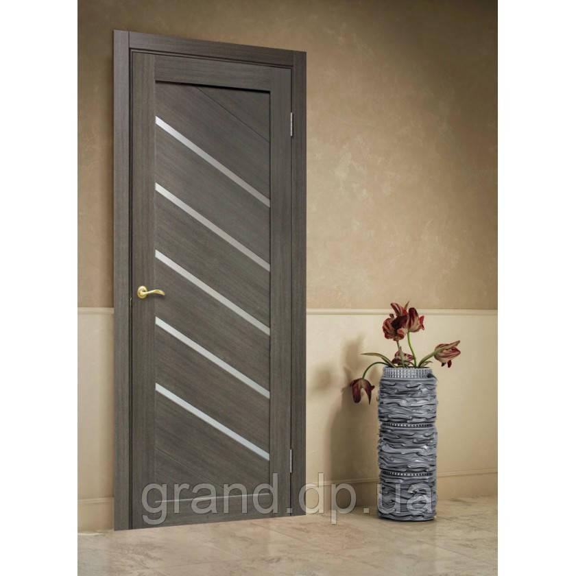 """Дверь межкомнатная """"Диана ПВХ"""" остекленная, цвет мокко"""