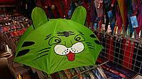 Зеленый зонтик с ушками Котик