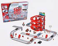 """Детская игра Паркинг """"Тачки"""" (CY180-2) 4 этажа, машинки 5шт, дорожн. знаки, в коробке"""