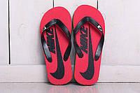 Мужские вьетнамки Nike  мужские шлепки  найк  красные  Размеры: 40-44