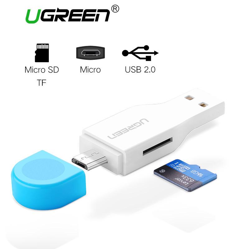 Ugreen 2 в 1 USB 2.0 и Micro USB OTG Card Reader (кард-ридер)