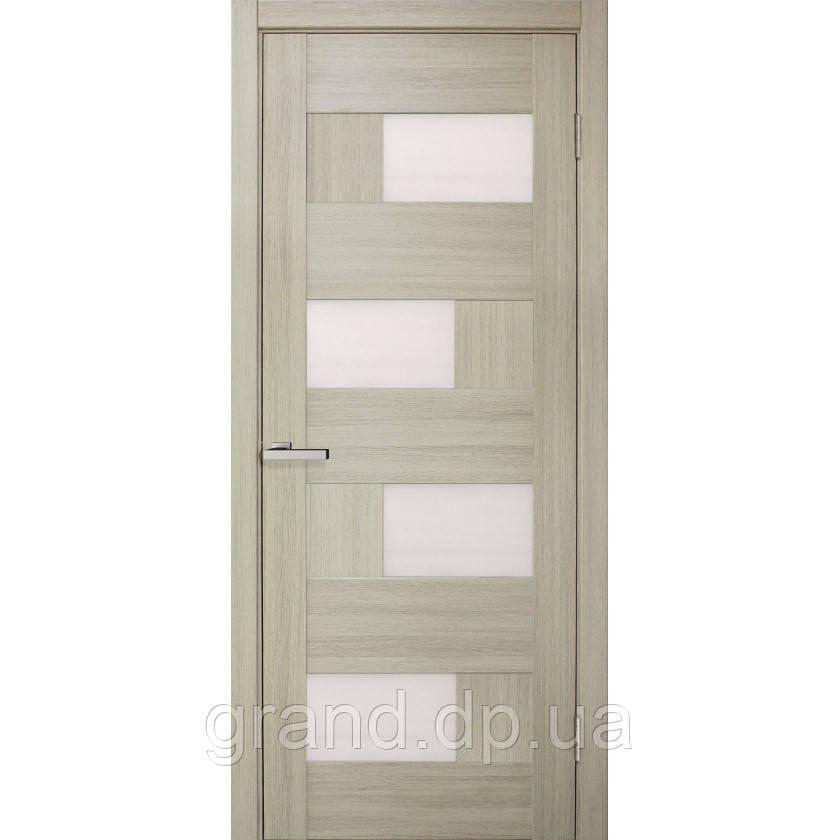 """Дверь межкомнатная """"Домино 2 ПВХ"""" остекленная, цвет дуб беленый"""