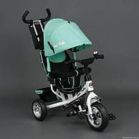Детский трёхколёсный велосипед 6588 БИРЮЗОВЫЙ KK
