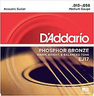 Струны для гитар D'Addario EJ17 Phosphor Bronze для акустической гитары