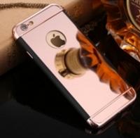 Чехол розовый зеркальный для iPhone 5/5s