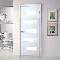 """Дверь межкомнатная """"Домино ПВХ"""" остекленная, цвет белый"""