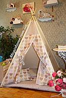 "Детский игровой домик, вигвам, палатка, шатер, шалаш, вігвам, дитячий будинок палатка ""Мокко"", фото 1"