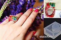 Молд форма для кольца, удобная для размещения миниатюры. Непрозрачный силикон