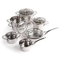 Набор посуды Tulip со стеклянными крышками, 12 пр