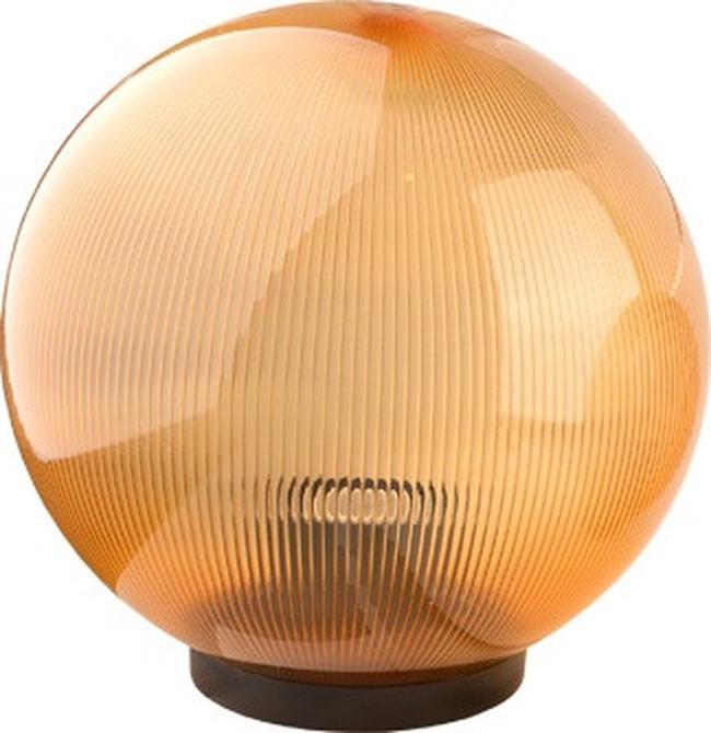 Светильник Шар d-150 садово-парковый призматик золото, фото 1