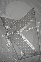 """Конверт-плед-одеяло на выписку новорожденного """"Горох - полоска"""""""
