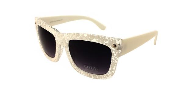 Модные белые солнцезащитные очки вайфареры