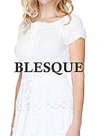 Платье однотонное белое