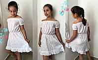 Летний белый детский сарафан