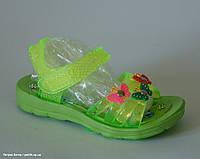 Sydney арт.3289-6 green (маломерят) Пляжная обувь для детей.