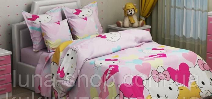 Дитячий полуторний комплект Hello Kitty-8 (Кітті), бязь (бавовна)