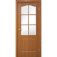 """Дверь межкомнатная """"Классика СС ПВХ"""" с матовым стеклом, цвет ольха"""