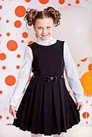 Шкільний сарафан для дівчинки: 6038-2 синій