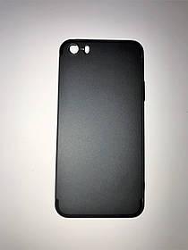 TPU Силикон тонкий (0,3 mm) Soft-touch matted Premium for Apple iPhone 5 / 5s Black (черный)