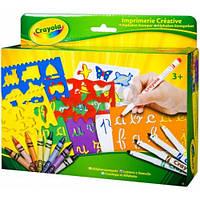 Набор для творчества Crayola Алфавит с трафаретами, фломастерами и восковыми мелками (10527)