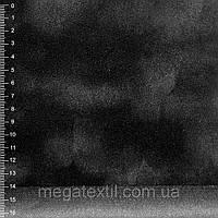 Замша искусственная флок черная ш.150 флок  ткань