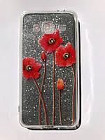 TPU + PC YOUNICOU Bloom Spring Series for Samsung J320 / Galaxy J3 (2016) Silver Gloss (серебряный блеск) Red