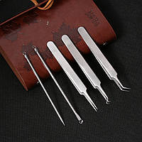 Инструменты  профессиональные косметологические для чистки лица в наборе(5 предметов)
