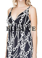 Платье масло короткое коса цепи черное