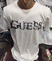 Мужские брендовые футболки Guess реплика оптом