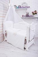 Детская постель в кроватку набор Мері 8 елементів