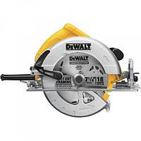Пилка циркулярна DeWalt DWE575K, ручна, 1600Вт, диск 190х30 мм,  пар.упор, пиловідсос.
