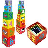 "Набор кубиков ""Пирамидка"" (59461), Viga Toys"