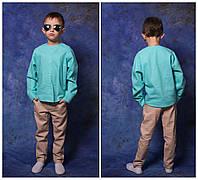 """Льняной костюм для мальчика: брюки + рубашка """"хулиганка"""". 2 расцветки"""