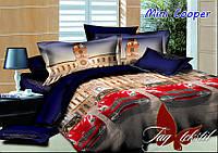 Полуторное детское постельное , простынь 160x220, хлопок ранфорс, Mini Cooper