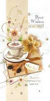 Упаковка поздравительных открыток ручной работы - Поздравляем Женские №Р1097 - 5шт