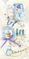 Упаковка поздравительных открыток ручной работы - Поздравляем Женские №Р1110 - 5шт