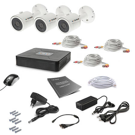 Комплект видеонаблюдения Tecsar 3OUT