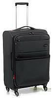 Дорожный чемодан из нейлона на 4-х колесах (средний) Roncato Venice Deluxe 405172 черного цвета